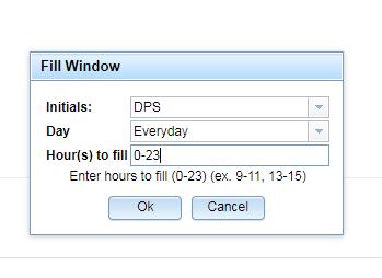 Fill Window on T/Mon
