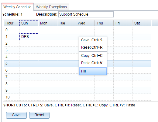 Setting Notification Schedule on T/Mon