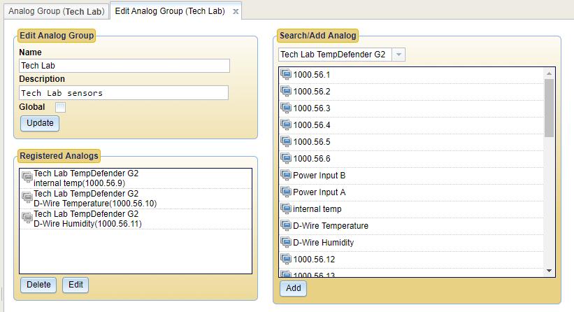 T/Mon Analog Groups Configure Device