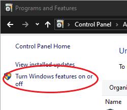 Windows Programs & Features
