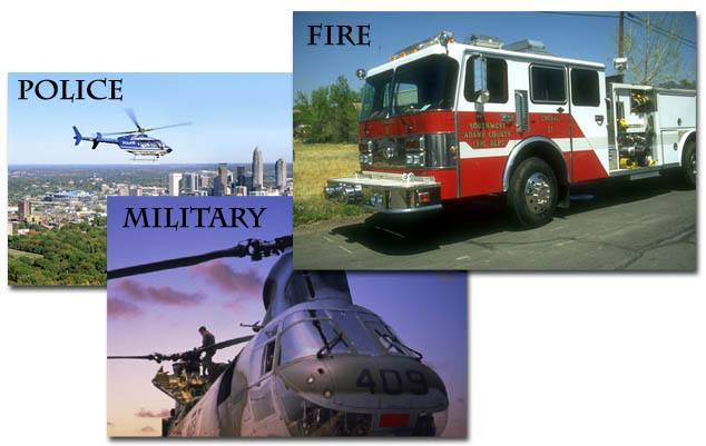 Police, Fire, Military