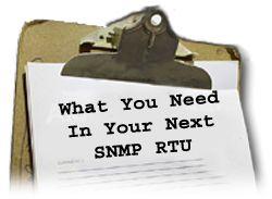 SNMP RTU Checklist