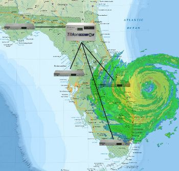 Remote monitoring during a hurricane