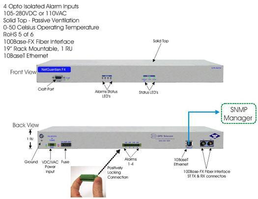Monitor Your Battery Banks With SNMP via Fiber with the NetGuardian F4...