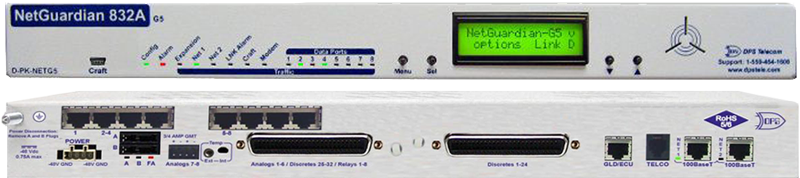 NetGuardian 832A RTU front and back panel