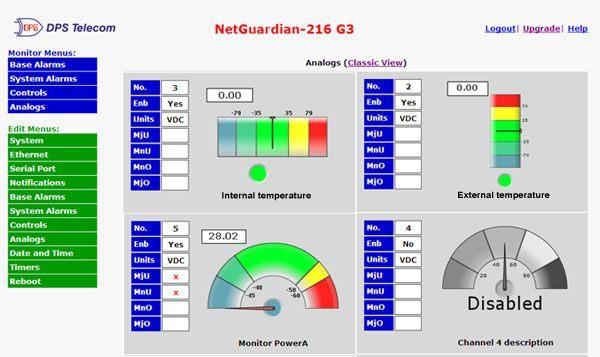 NetGuardian 216 web browser