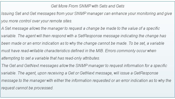 SNMP Get and Set